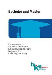 Bachelor und Master - Bundeskonferenz für Erziehungsberatung