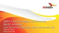 Saint Louis Investor Conference North America - Anheuser-Busch ...