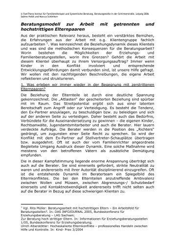 Beratungsmodell hochstrittige Eltern\374 - FamThera . Institut für ...