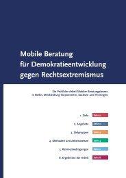Mobile Beratung für Demokratieentwicklung gegen ... - Mobit