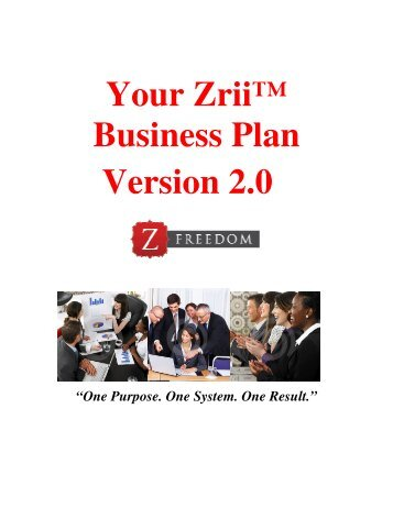 zrii business plan