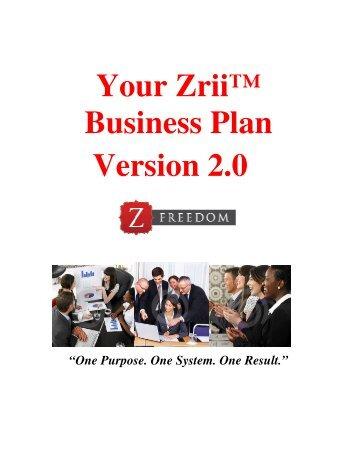 zrii business plan