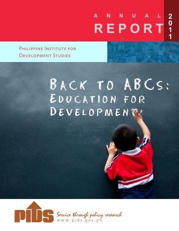 annex-a - Philippine Institute for Development Studies