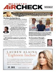 Issue 302 - July 9, 2012 - Country Aircheck