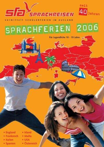 England • Frankreich • Italien • Spanien • Irland ... - SFA Sprachreisen