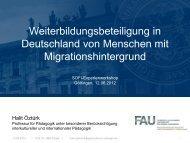 Weiterbildungsbeteiligung in Deutschland von Menschen mit ... - BiBB