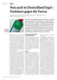 Nun auch in Deutschland legal – Oxalsäure gegen die Varroa