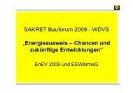 ENEV Vortrag Bauforum 2009 schm - SAKRET GmbH