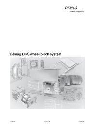 2 Demag DRS wheel block system - Demag Cranes & Components