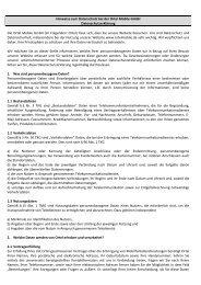 Hinweise zum Datenschutz bei der Ortel Mobile GmbH ...