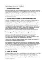 Datenschutzerklärung der iSQI GmbH 1. Personenbezogene Daten ...