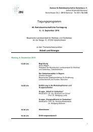 Tagungsprogramm - Zentrum für Betriebswirtschaft im Gartenbau eV ...