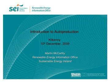 Introduction to auto-production, SEI REIO - the Sustainable Energy ...