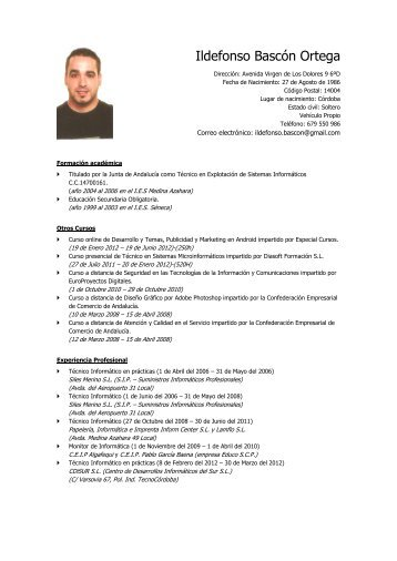 CV Ildefonso Revista