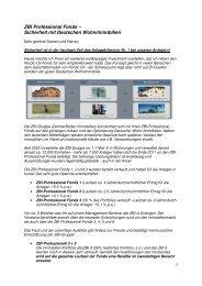 ZBI Professional Fonds - Sicherheit mit ... - Heiter Investment
