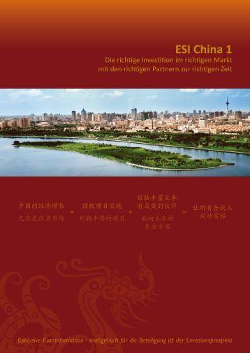 ESI China 1 - ESI Euro Sino Invest