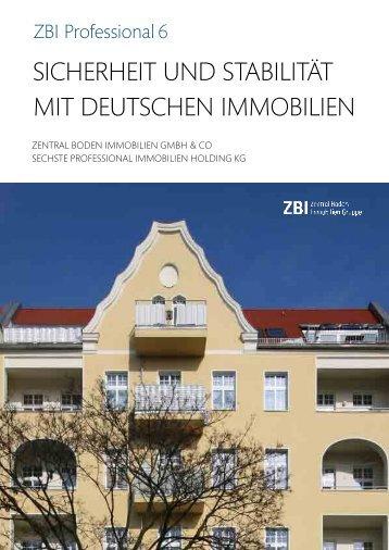 Sicherheit und Stabilität mit deutSchen immobilien - zbi ag