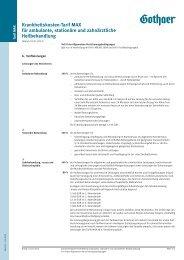 Krankenvollversicherung - Maximalschutz - Gothaer Versicherungen