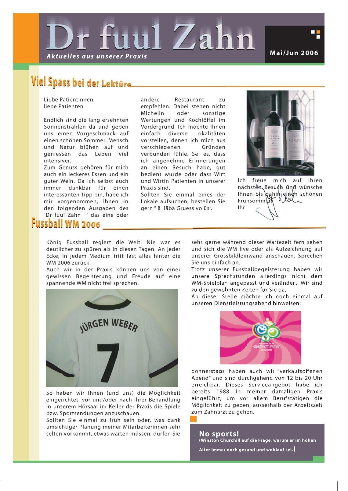3 Free Magazines From Zahnheilkunst Ch