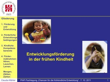 Entwicklungsförderung in der frühen Kindheit - Kompetenzzentrum ...