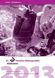 2013Programm - Evangelische Familienbildungsstätte Hildesheim