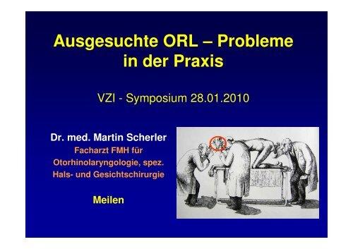 ORL Probleme in der Praxis - Vereinigung Zuercher Internisten