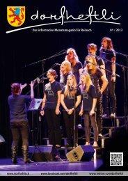Das informative Monatsmagazin für Reinach 01 / 2013