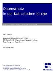 Telemediengesetz (TMG) - Datenschutz in der Katholischen Kirche