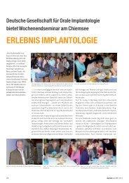Deutsche Gesellschaft für Orale Implantologie bietet - zahniportal.de