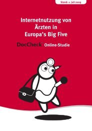 Internetnutzung von Ärzten in Europa's Big Five - Doccheck Research