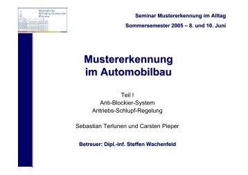 Mustererkennung im Automobilbau
