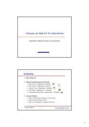 Chancen von Web 2.0 für Unternehmen Inhaltsfolie