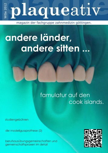 Plaqueaktiv WiSe 2012/13 - Fachgruppe Zahnmedizin Göttingen