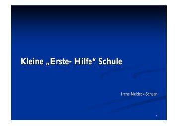 """Kleine """"Erste- Hilfe"""" Schule - Kinder- & Jugendärzte im Netz"""