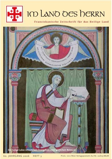 Franziskanische Zeitschrift für das Heilige Land - Heilig-Land