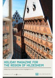 HOLIDAY MAGAZINE FOR THE REGION OF HILDESHEIM
