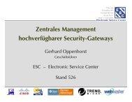 Partner für Managed Services - ESC Electronic Service Center
