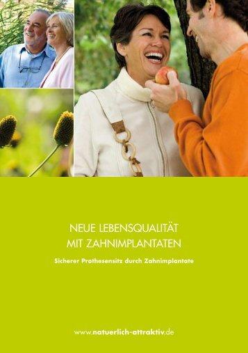 Sicherer Prothesensitz durch Zahnimplantate - Dr. H. Zieger