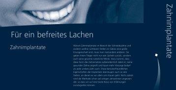Für ein befreites Lachen Zahnimplantate - Marcolini Praxisklinik