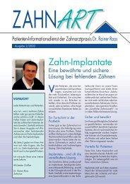 Implantate im Blickpunkt - Zahnarzt Dr. med. dent. Rainer Roos