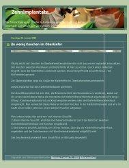 Zahnimplantate - Dr. med. dent. Günter Leugner & Andreas Leugner