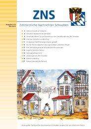 Zahnärztliche Nachrichten Schwaben 5/2010 - Zahnärztlicher ...