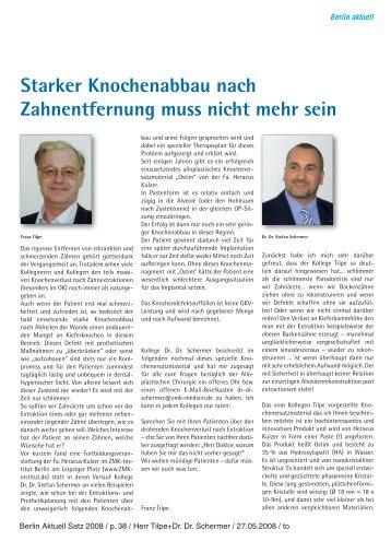 Starker Knochenabbau nach Zahnentfernung muss ... - Berlin Klinik