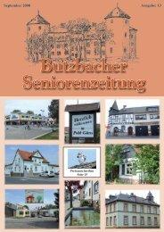 Butzbacher Seniorenzeitung - Stadt Butzbach