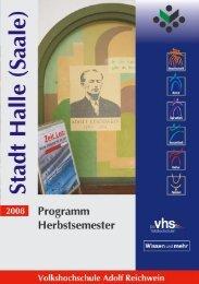 Die Volkshochschule Adolf Reichwein der Stadt Halle (Saale)