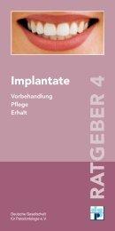 Download: Informationsfolder Implantate - Praxis Konrad