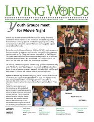 feb Newsletter - Living Word Lutheran Church - Milbank, SD