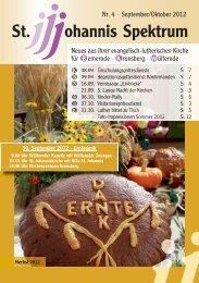 Heft Sep. - Okt. 2012 - St. Johannis Bemerode