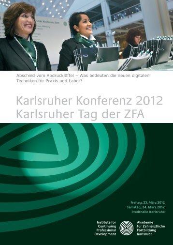 Programm (PDF) - Akademie für Zahnärztliche Fortbildung Karlsruhe