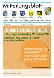 Ausgabe 01/02/2013 - Verbandsgemeinde Herxheim